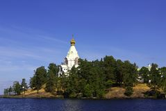 Chapel on the island of Valaam, Karelia, Russia Stock Photo