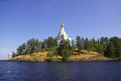 Chapel on the island of Valaam, Karelia, Russia Royalty Free Stock Photos