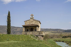 Chapel in Istria. Idyllic chapel on the Mirna cycle path in Istria stock photos