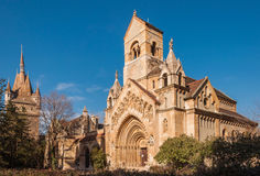 The Chapel of Jak in Vajdahunyad Castle is a functioning Catholic chuch, located in Budapest. The Chapel of Jak in Vajdahunyad Castle is a functioning Catholic Royalty Free Stock Photo
