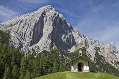 Chapel in Karwendel Stock Photography