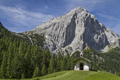 Chapel in Karwendel Royalty Free Stock Photos