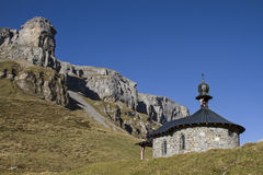 Chapel on Klausen pass Stock Photography