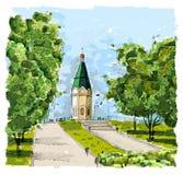 Chapel in Krasnoyarsk royalty free illustration