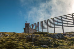 Chapel Krippenstein in Austria Royalty Free Stock Photography