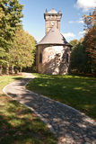 Chapel on Krizova hora hill in Luzicke hory mountains stock photography
