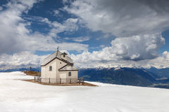 Chapel on the Kronplatz  above Brunico, South Tyrol Royalty Free Stock Photo
