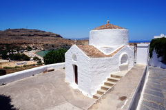 Chapel in Lindos Stock Image