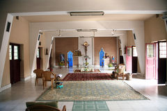 Chapel in Little Flower Convent in Basanti, West Bengal, India Royalty Free Stock Photo
