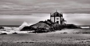Chapel of the Lord of the Rock in Miramar. Portugal Royalty Free Stock Image