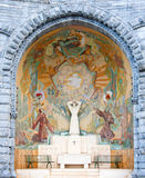 Chapel in Lourdes. External chapel of the Rosary Basilica in Lourdes, France Stock Photo