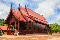 Chapel made of wood sugar palm Royalty Free Stock Photo