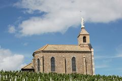 Chapel of the madona in Fleurie Royalty Free Stock Photo