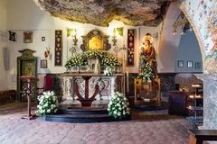 Chapel Madonna della Rocca near Taormina at Sicily, Italy Royalty Free Stock Images