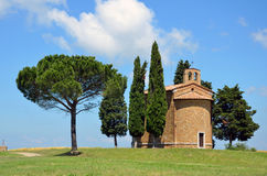 Chapel of Madonna of Vitaleta Royalty Free Stock Photos