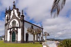 Chapel of Mae de Deus. The Chapel of Mae de Deus, mother of god church on a hill in Ponta Delgada, Sao Miguel, the Azores Royalty Free Stock Photography