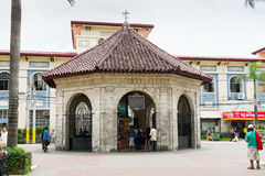 The Chapel with Magellan`s Cross, Cebu City, Philippines Stock Photo