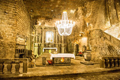 Chapel in the main hall in the Wieliczka Stock Photos