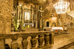 Chapel in the main hall in the Wieliczka Royalty Free Stock Photos