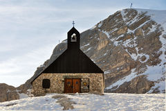 Chapel Maria Heimsuchung at the Zugspitze Stock Photography
