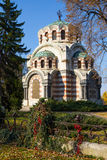 The Chapel-mausoleum, Pleven, Bulgaria. The Chapel-mausoleum St. George the Victorious, Pleven, Bulgaria. In memory of the perished Russian and Romanian warriors Royalty Free Stock Photo