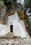 Chapel in Mili gorge at Crete, Greece. Chapel in Mili gorge at Crete island, Greece royalty free stock photos