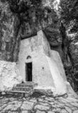 Chapel in Mili gorge at Crete, Greece. Chapel in Mili gorge at Crete island, Greece royalty free stock images