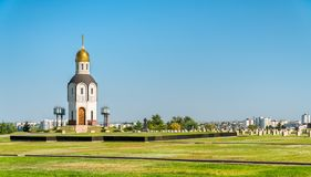 Chapel on the military memorial cemetery on Mamayev Kurgan in Volgograd, Russia. N Federation stock images