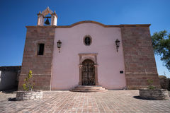 Chapel in mineral de pozos mexico royalty free stock photos
