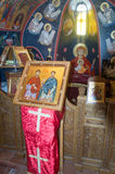 In the chapel of the monastery of St. Barlaam in Meteora. Greece Royalty Free Stock Photo