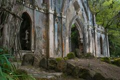 Chapel at Monserrate garden royalty free stock photos
