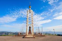Chapel Monument Cyril Methodius. Chapel and Monument of Cyril and Methodius, Educators and creators of the Slavic alphabet Eagle Nest Mount in Vladivostok Stock Photography