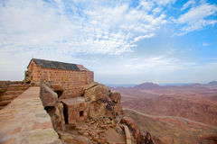 Chapel on mount sinai Stock Photos