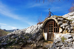 Chapel in the mountain Royalty Free Stock Image