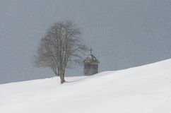 Chapel in the mountain village Stock Photos