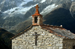 Chapel in the mountains Royalty Free Stock Image