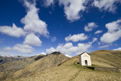 Chapel in the mountains Stock Photo