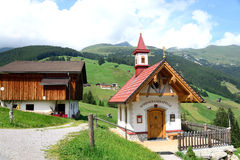 CHAPEL IN THE MOUNTAINS OF AUSTRIA TIROL Stock Photography