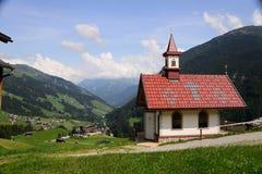 CHAPEL IN THE MOUNTAINS OF AUSTRIA TIROL SUMMER 2015 Stock Photos