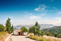 Chapel in the mountains on the Crete island, Greece Royalty Free Stock Photo