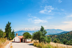 Chapel in the mountains on the Crete island, Greece. Royalty Free Stock Image