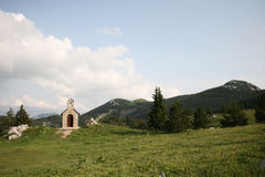 Chapel In Mountains Royalty Free Stock Image