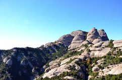 Chapel and Mountains of Montserrat, Catalonia, Spain royalty free stock photos