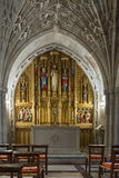 Chapel in National Cathedral, Washington, DC. Washington, DC - February 4, 2016: Interior view, of chapel within Cathedral of Saint Peter and Saint Paul. The royalty free stock photo