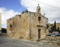 Chapel of the Nativity and St. Nicholas in Rabat. Malta.  Royalty Free Stock Photo