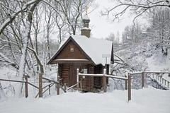 Chapel near a healthful source imagens de stock royalty free
