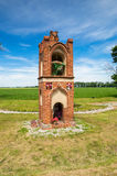 Chapel near road in Gnojewo in Poland. Royalty Free Stock Images