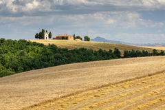 Chapel near San Quirico d´Orcia, Tuscany, Italy Stock Photos