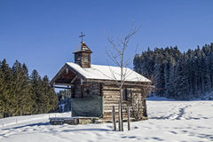 Chapel near Schwaiger hut Royalty Free Stock Photo