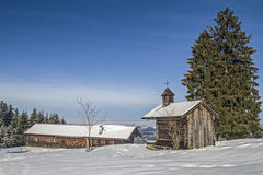 Chapel near Schwaiger hut Royalty Free Stock Images